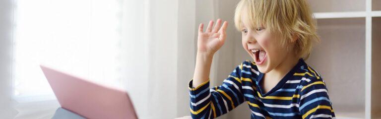Young kid learning social skills